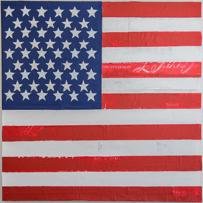Flag/USA, ACRYLIQUE SUR TOILE, 100X100CM, 2015